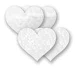 Bristols 6 Fasion Nippies- Like a Virgin White Hearts