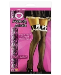 French Maid Thigh High Fishnet Stockings